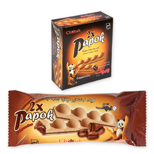 cappuccino Twin Papok Wafer